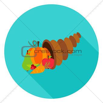 Cornucopia Circle Icon
