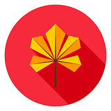 Chestnut Leaf Circle Icon
