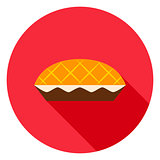 Apple Pie Circle Icon