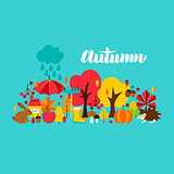 Autumn Greeting Postcard