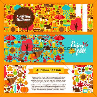 Autumn Horizontal Banners