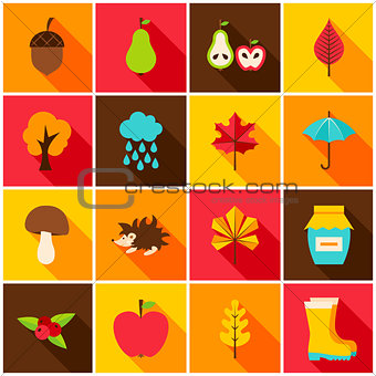 Autumn Colorful Icons
