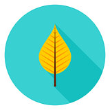 Autumn Leaf Circle Icon