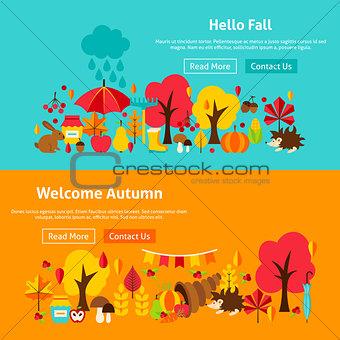 Autumn Website Banners