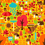 Autumn Season Seamless Pattern