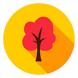 Autumn Tree Circle Icon