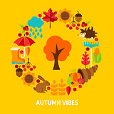 Autumn Vibes Postcard