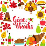 Give Thanks Concept with Lettering