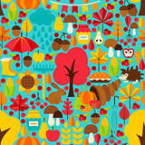 Fall Seasonal Seamless Pattern