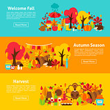 Fall Web Horizontal Banners