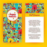 Flyer Template of Happy Autumn