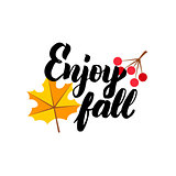 Enjoy Fall Lettering