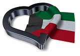 flag of kuwait and heart symbol - 3d rendering