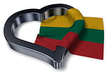 flag of lithuania and heart symbol - 3d rendering