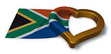 flag of the Republic of South Africa and heart symbol - 3d rendering