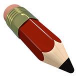 Cute cartoon pencil