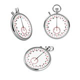 Set of 3 mechanical stopwatch chronometers