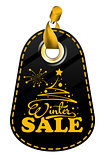 Tag with Inscription Winter Sale