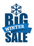 Big Winter Sale inscription