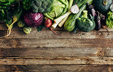 Fresh organic raw vegetables
