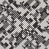 Modern Halftone Texture. Endless Abstract Background With Random Size Squares. Vector Seamless Chaotic Squares Mosaic Pattern.