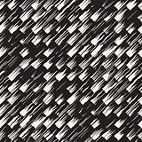 Vector seamless pattern with brush stripes and strokes. Black and white background with ink elements. Hand painted grunge texture.