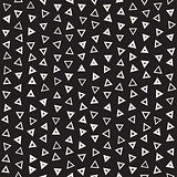 Seamless primitive jumble minimalism patterns. Randomly scattered geometric shapes. Abstract background design
