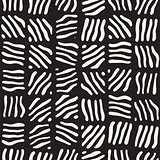 Seamless freehand pattern. Vector abstract rough lines background. Hand drawn strokes.