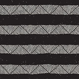 Hand drawn style ethnic seamless pattern. Abstract geometric lines background in black and white.