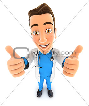 3d doctor thumbs up