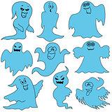 Set of nine amusing ghosts