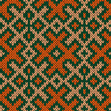 Seamless knitted ornate pattern