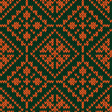 Seamless ornate knitted pattern