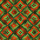 Knitted ornamental seamless pattern