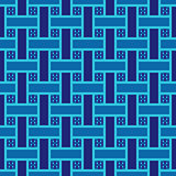 Seamless pattern with blue interlaced ribbons