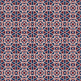 Geometric seamless color pattern