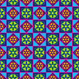 Geometric seamless multicolor pattern