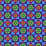 Geometric seamless multicolor pattern