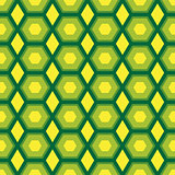 Abstract seamless pattern with hexagonal shapes