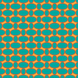 Seamless pattern with oval shapes