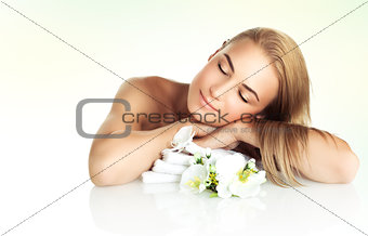 Gentle female at spa salon