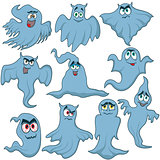 Set of ten amusing Halloween phantoms