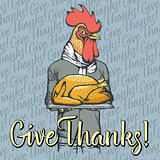 Vector illustration of Thanksgiving xxx concept