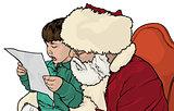 Santa Claus and Little Boy