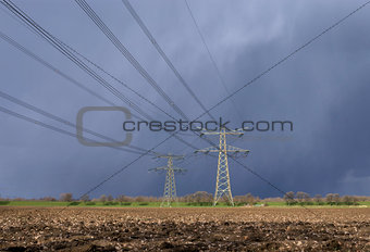 Power Pylon in bad weather