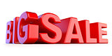 Big sale 3D red text
