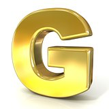 Golden font collection letter - G. 3D