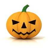 Scary Jack O Lantern. Halloween pumpkin