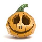 Halloween pumpkin Jack O Lantern polygonal design 3D