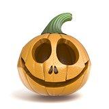 Halloween pumpkin Jack O Lantern 3D